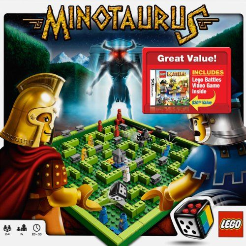 Lego Battles with Lego Minotaurus Set... We all love this board game. It is simple enough for everyone to enjoy. The DSI game is just a little hard for a nine-year old, but that's something that he can grow into. We got the combo for about the price of the DSI game enclosed. It's a great deal.