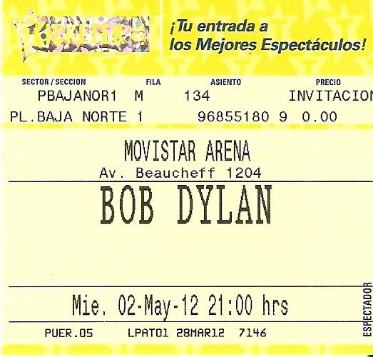 Bob Dylan - Live in Santiago, Chile 02-05-2012