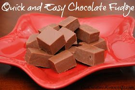 One Creative Housewife: Quick and Easy Chocolate Fudge