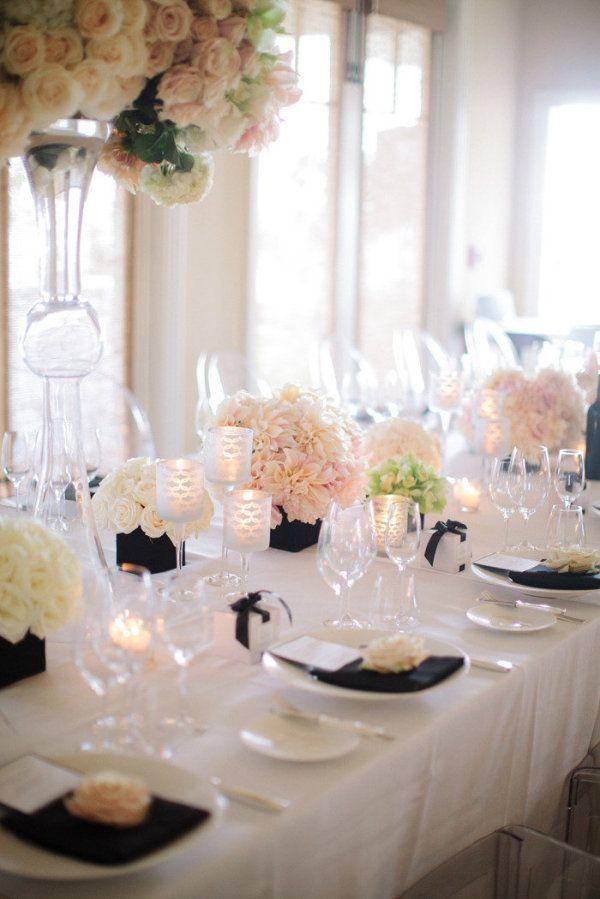 decoration elegante reception de mariage navy