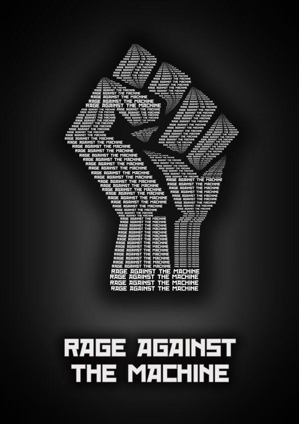 Rage Against The Machine ~ Minimalistic Music Posters by Sahil Thappa, via Behance