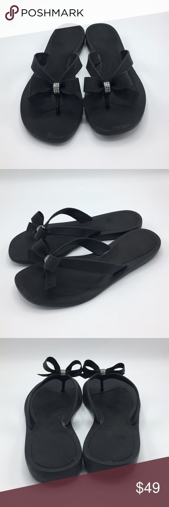 Guess Bow Flip Flops Can fit anyone from a 9.5-10. Gently used, no trades, feel free to ask questions! :) Guess Shoes Sandals