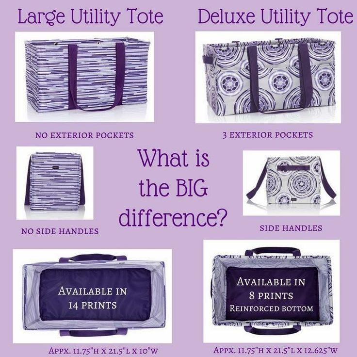 Large Utility Tote vs Deluxe Utility Tote www.AnchoredBagsBySarah.com
