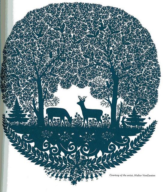 paper cut-out design, astounding work by Walter VonGunten