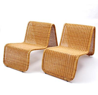 Rotan fauteuils 2x ontwerp tito agnoli uitvoering - Le nastro sofa par pierantonio bonacina ...