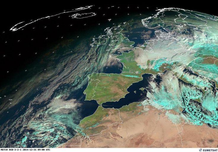 """""""Una mirada al tiempo... así está el ambiente: Imagen satélite #Meteosat 09:00 UTC (10:00 hora local) #FMA"""""""