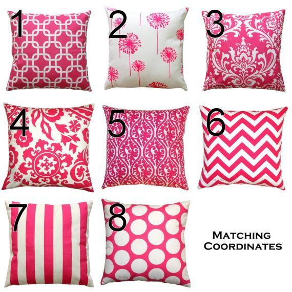 SALE Girls Decor Premier Prints Candy Pink Pillow by Modernality2