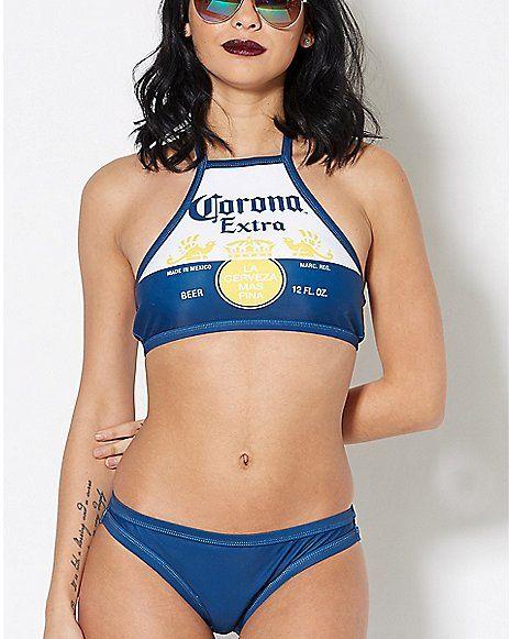 19044a07 Corona Extra Bikini - Spencer's Girls Swimming, Summer Bikinis, Bikini  Girls, Bathing Suits