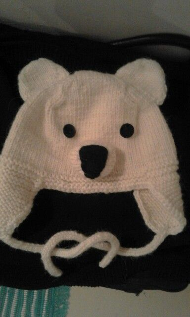 Polar bear hat
