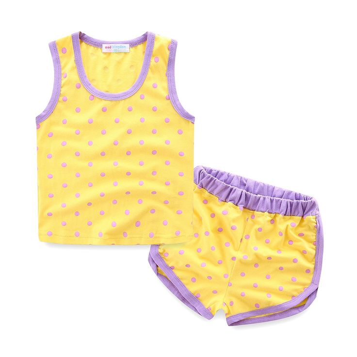 """Mud Kingdom Polka Dot Tank Tops and Shorts Summer Girls Shorts Clothes Set Yellow 2T. Featured Polka Dot Print. Breathable. For Summer. Adorable Design, Comfortable Fabric and Much More Beautiful Than Pictures, Kids Will Like It As Gift. Please Read """"Size Specification"""" In """"Product Description"""" To Make Sure The Size You Choose Fits As Expected."""