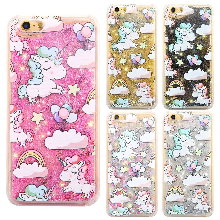 Cell Phone case Luxury Liquid Quicksand Pattern Glitter phone covers for iphone 6 6s plus 6splus with Cute Animal Pattern case