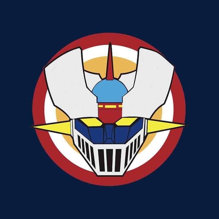 Camiseta Mazinger Z. Escudo Capitán América                                                                                                                                                                                 Más