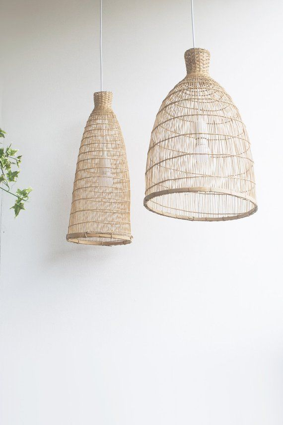 Natural Bamboo Light Handmade Bamboo Pendant Lamp Hanging