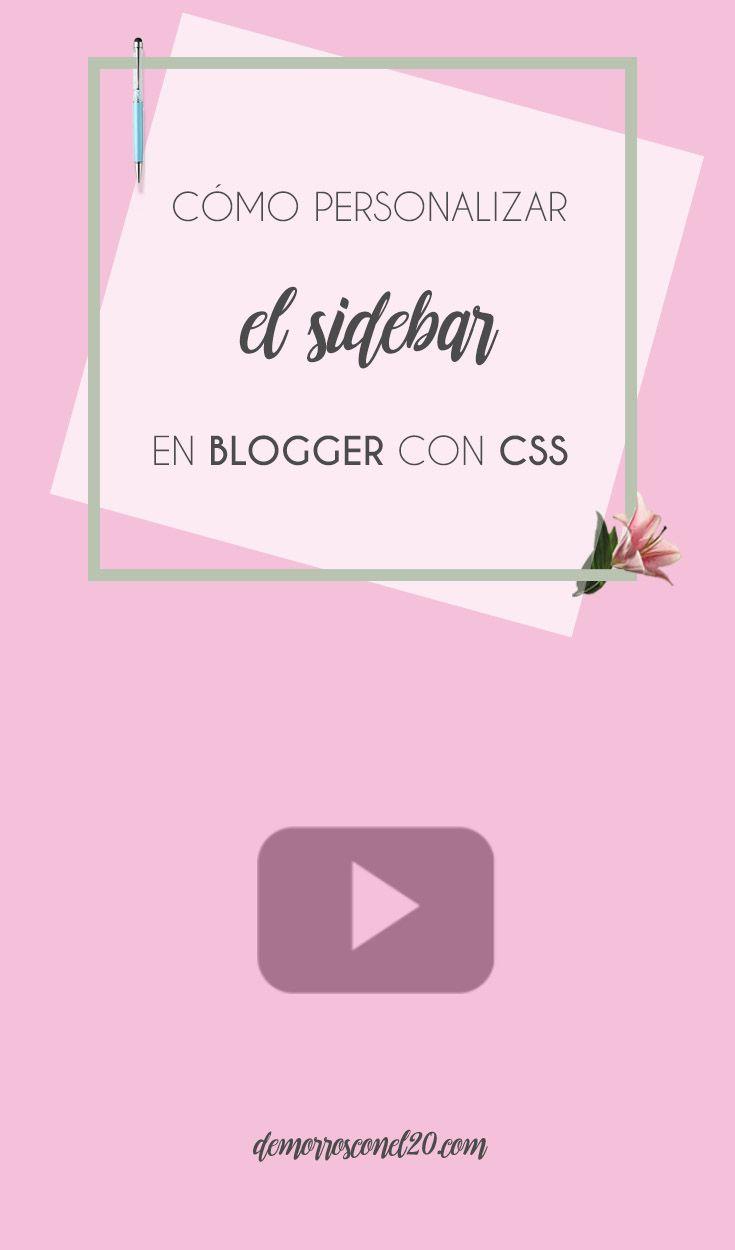 Personalizar #sidebar de plantilla #Blogger con #CSS
