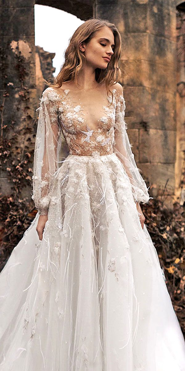 36 Floral Wedding Dresses That Are Incredibly Pretty  12f3464a0511