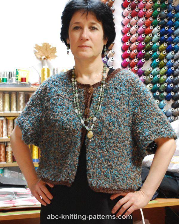 ABC Knitting Patterns - One-Skein Cropped Raglan Cardigan