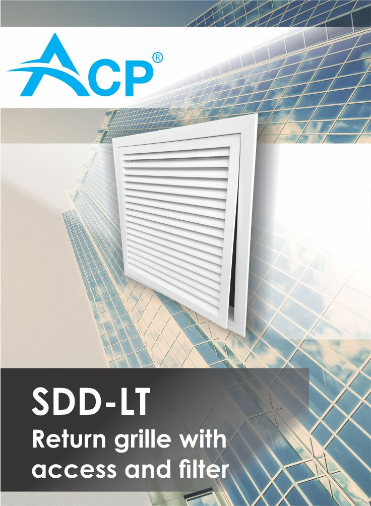 Return grill with access and filter SDD-LT