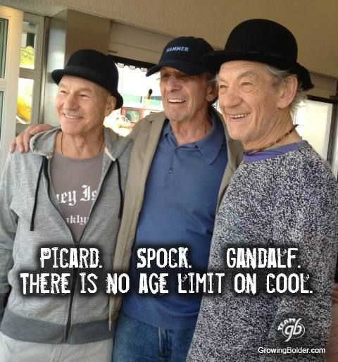 No age limit on cool. (let's also mention: Professor X and Magneto)
