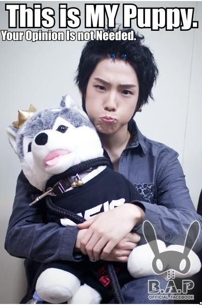 Himchan, B.A.P. ...that cute pout!! *melting*