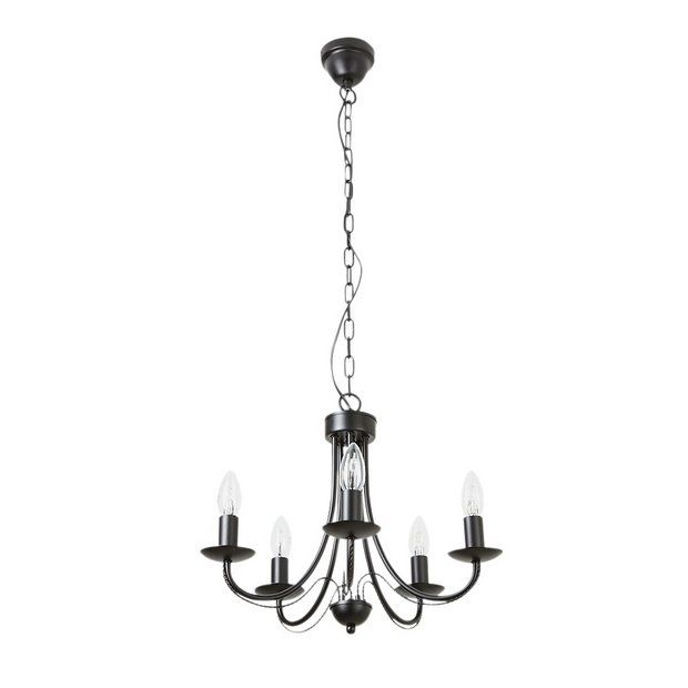 Collection Twirl 5 Light Twist Chandelier | Argos