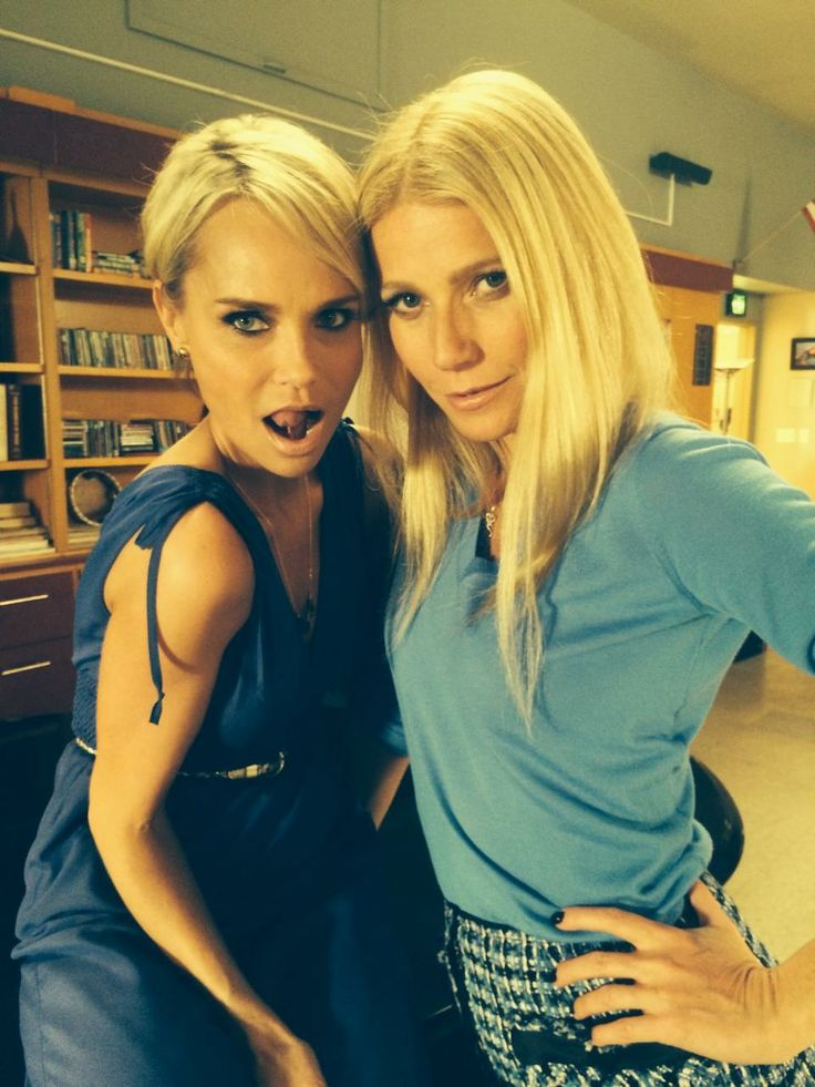 glee: 100.   Kristin Chenoweth & Gwyneth Paltrow.