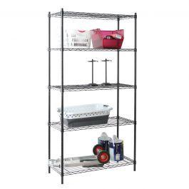 5 Tier Wire Shelf - Black