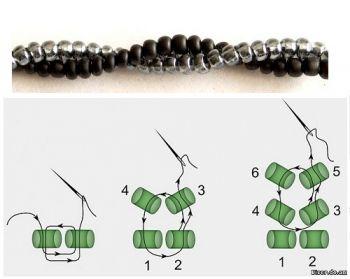 * схема плетения жгута ндебеле