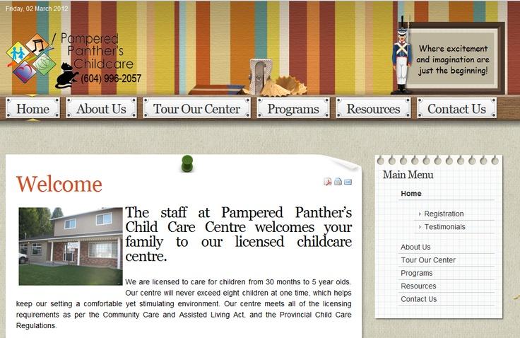 A fun little web design project for a Abbotsford, BC daycare.