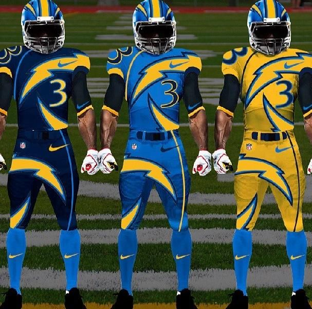 Image Gallery Chargers Uniforms