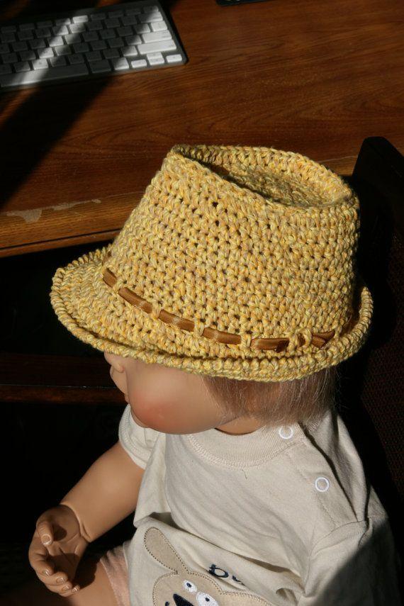 Crochet Baby/Toddler Fedora Hat Summer Fedora Hat by milazshop, $27.00