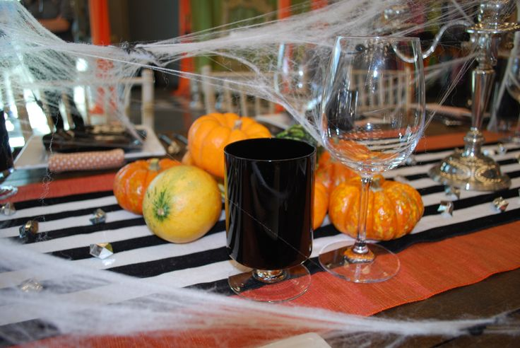 Perfectly spooky setting for a Halloween dinner party | Celebrations! Party Rentals and Tents