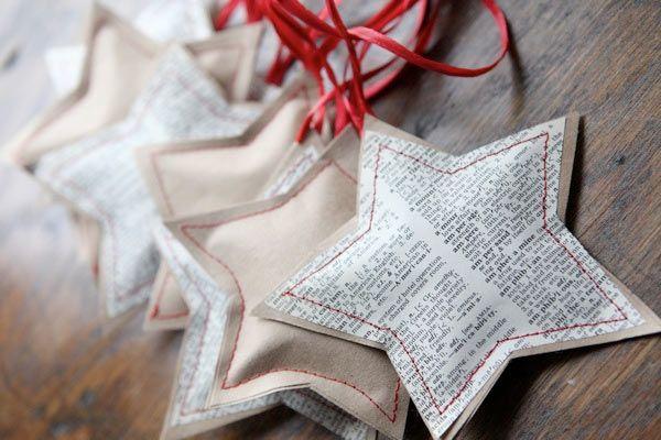 ✿ ✿ ✿  deco noel papier etoile Cousez du papier pour vos décos de Noël