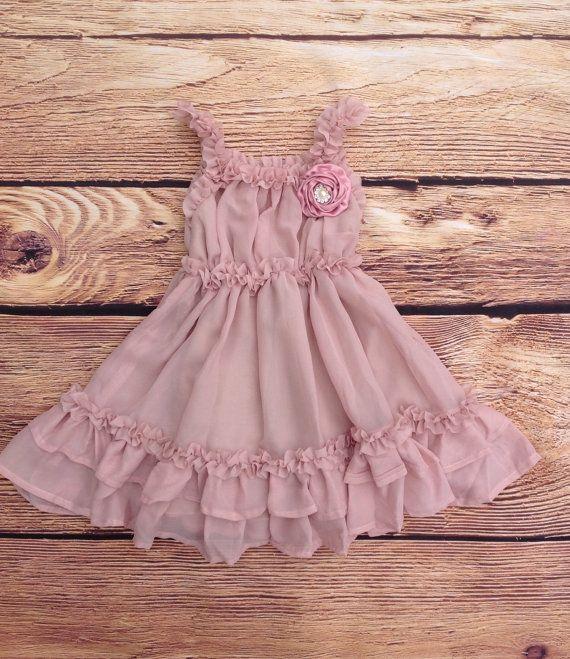 Mauve Dusty Pink Christmas Dress, Vintage Dress, Flower Girl Dress, Beach Wedding Dress, Rustic Wedding, Western Country Dress, Lace Dress by AvaMadisonBoutique on Etsy https://www.etsy.com/listing/213313218/mauve-dusty-pink-christmas-dress-vintage