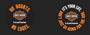 Saving 4 A Sunny Day: Free Harley Davidson Sticker For Women