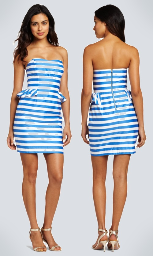 Lilly pulitzer blue and white striped dress