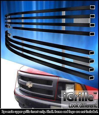 Fits 1994-1997 Chevy S-10 S10 Pickup Stainless Steel Black Billet Grille