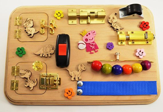 Sensory board Busy board for toddler Mini activity board