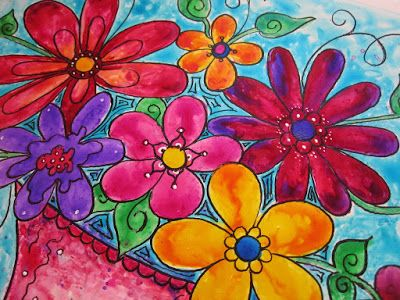 Cuadros Modernos Pinturas y Dibujos : Serie de Flores Grandes Formatos En Cuadros Pintados A Mano