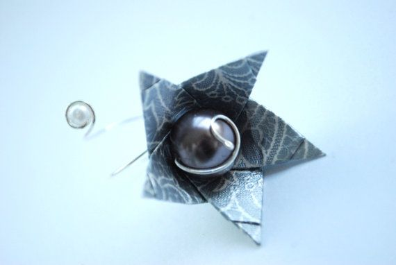 Flower Ring Origami Ring Modern Ring Paper Ring by MAGcraftsy, $13.99