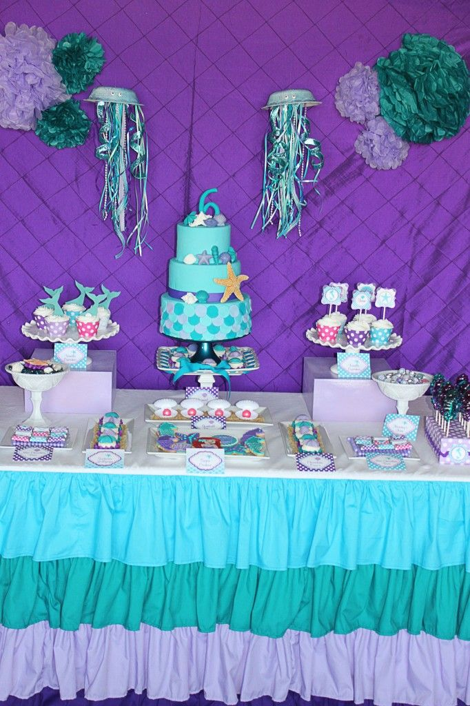 Tessa 39 s ariel inspired birthday party ariel birthday for Ariel birthday party decoration ideas