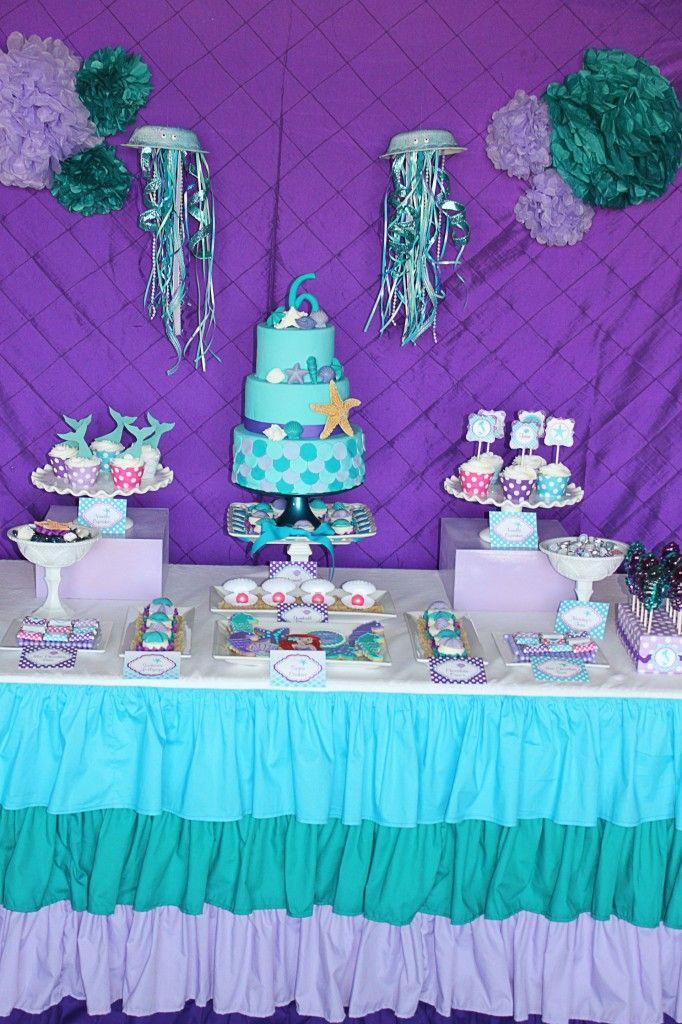Ariel little Mermaid Birthday Party, mermaid birthday ...