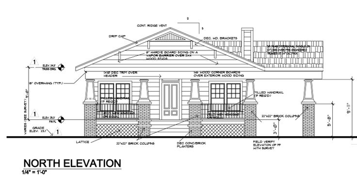 N Home Elevation Usa : Usa architectural elevation cad drawings