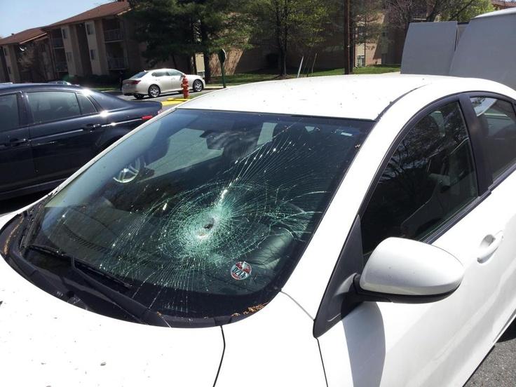 cracked windshield rental car budget