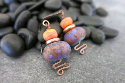 Earrings Everyday: Caribbean Sunset.  Linda Landig Jewelry