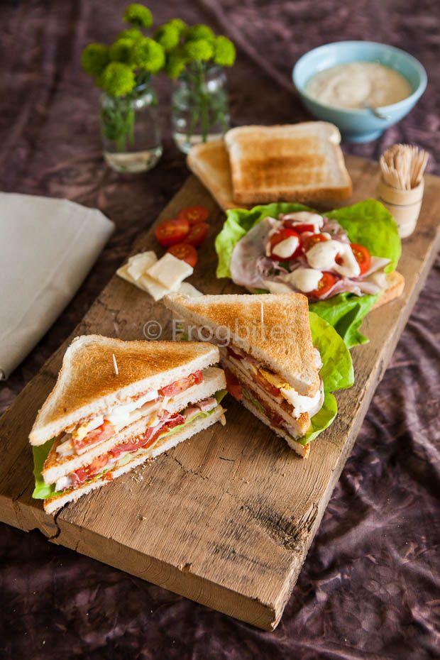 Home made club sandwich