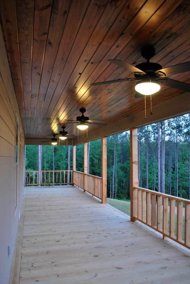 2012 custom home - front porch ceiling