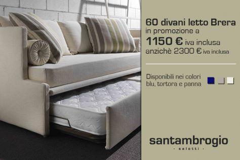 È tempo di promozioni anche da Santambrogio Salotti! 60 #divani #letto modello Brera disponibili con uno sconto del 50%! Visita il nostro sito web per maggiori informazioni.