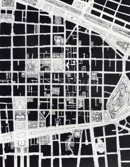 joseabasolo:    LA PARTICIÓN DE LA MANZANA  Como se modernizó Santiago de Chile  Dibujo: José Rosas