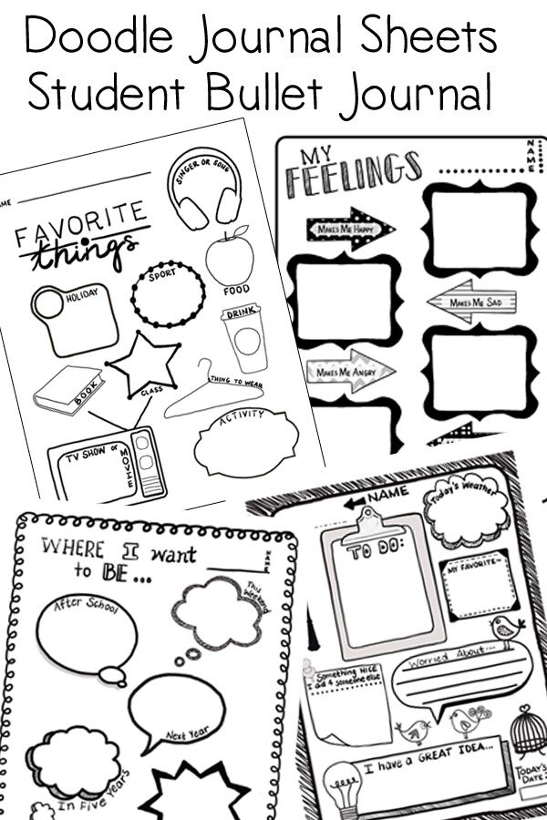 Doodle Journal with Creative Writing Prompts & Fun