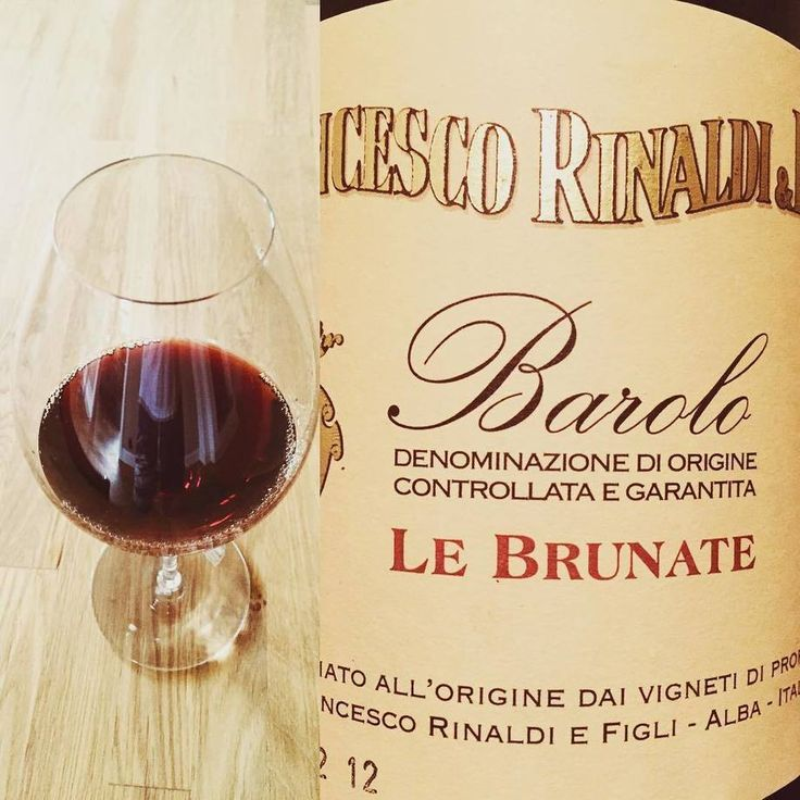 2008 Francesco Rinaldi e Figli Barolo Le Brunate. Elegant, traditional and typical. Tar, cherries and a hint of violet.. Great!